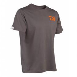 Tee Shirt Gris Orange 100 % coton Daiwa acheter chez pecheur-peche.com