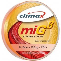 tresse climax Mig 8 0.16mm orange-110 m