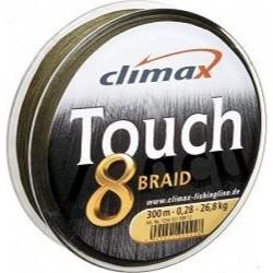 PROMO tresse touch 8 braid -135m-0.16-14.2kg- verte climax