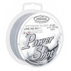 PROMO Tresse Power Shot 130 M 9/100 15 Lb Blanche Tresse Powerline acheter chez pecheur-peche com