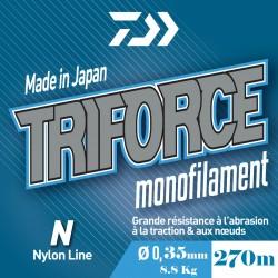 PROMO Nylon Daiwa Triforce 35100 270 M Bleu TF27035BLU acheter pas cher chez pecheur-peche com