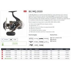 Moulinet Peche exotique BG MQ 2020 monocoque Moulinet Peches Fortes Daiwa nouveauté Daiwa 2021