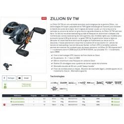 Zillion SV TW Moulinet Bait Casting Daiwa Moulinet catalogue Daiwa 2021 pecheur-peche com