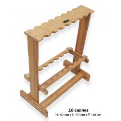 Presentoir 16 Cannes a peche Bambou Scratch Tackle Flashmer 2021 SRACP16 acheter chez pecheur peche