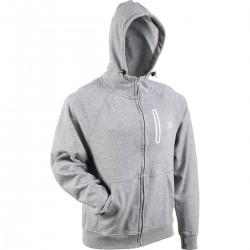 Sweat Shirt Gris à Capuche Zippé Daiwa 2021 pecheur achetez chez pecheur peche