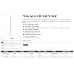 Canne Téléréglable Team Daiwa RBF catalogue Daiwa 2021 acheter chez pecheur-peche com