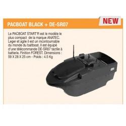 Bateau Amorceur Anatec Pacboat Black + DE-SR07 ANCEJ3020-BLK acheter chez pecheur peche