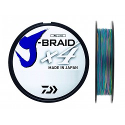 PAS CHER Tresse Daiwa J-Braid X 4 1500 M multicolore acheter chez pecheur-peche com