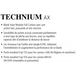 Canne Spinning Shimano Technium AX Predator catalogue Shimano 2021