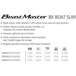 Canne soutenir downrigger traine trolling Shimano Beastmaster BX Boat 2.29 M  7'6