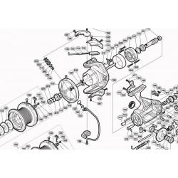 SAV reperation piece detachees Moulinet Legalis LT 2020 4000 CXH Daiwa click leaf spring