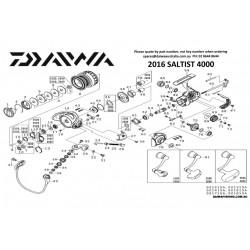 SAV reperation piece detachees Cache Manivelle Moulinet 2016 Saltist 4000 6J397803  Daiwa chez pecheur-peche com