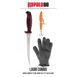 kit rapala couteau à filet Hawk poisson nageur jointed 11 cm gant pecheur peche