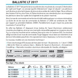 moulinet peche daiwa ballistic lt 2017 spinning frein avant pecheur peche catalogue daiwa