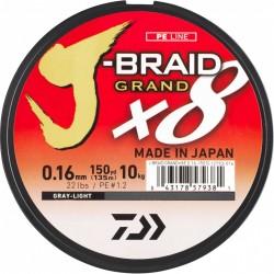 Tresse peche Daiwa j-braid GRAND 1350 m new 2019 chez pecheur peche com