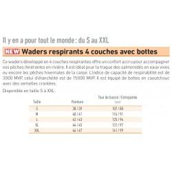 Waders Respirants 4 Couches Avec Bottes Daiwa