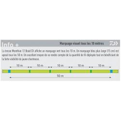 tresse de pêche Daiwa Morethan 12 Brins Braid EX marquage chez pecheur-peche com catalogue Daiwa 2019