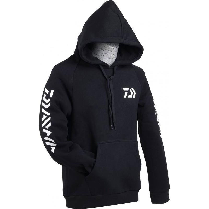 Sweat shirt capuche daiwa promotion peche chez pecheur-peche com coloris noir