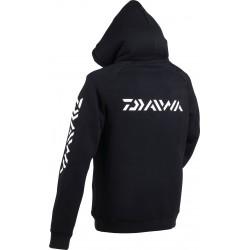 Sweat shirt capuche daiwa promotion peche chez pecheur-peche com coloris noir dos logo Daiwa