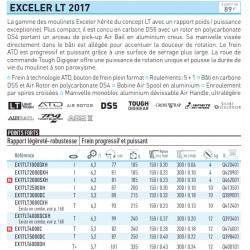 Moulinet peche Daiwa Exceler 17 LT EX17LT1000DXH chez pecheur-peche com catalogue Daiwa 2019