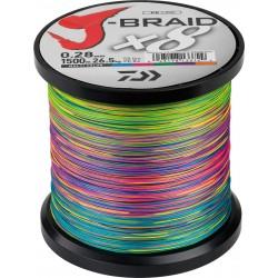 tresse peche daiwa j-braid 8 x 1500 pecheur peche com coloris multicolore