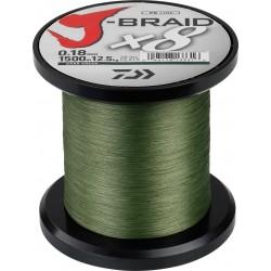tresse peche daiwa j-braid 8 x 1500 pecheur peche com coloris vert