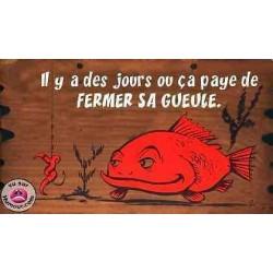 Blague peche blague pecheur poisson qui ferme sa gueule chez pecheur-peche com