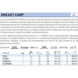 Emcast 25 5000 A Moulinet Daiwa EC25A chez pecheur peche com catalogue daiwa 2019