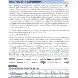 14 Saltiga 8000 H EXP 14SALTIGA8000HEXP Moulinet Daiwa chez pecheur peche com catalogue daiwa 2019