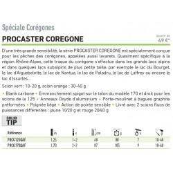 Canne à pêche promotion Daiwa Procaster coregone PRCG125QAF chez pecheur peche com catalogue Daiwa