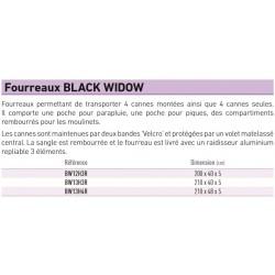 Fourreau 13' 3 C  Black Widow Daiwa BW13H3R acheter chez pecheur peche com catalogue daiwa 2019