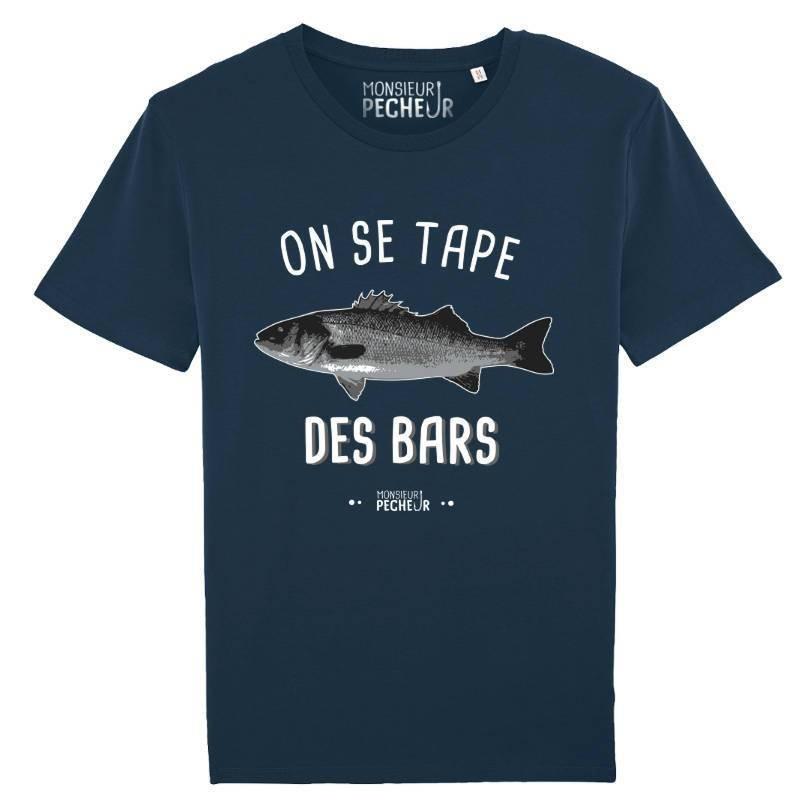 T-Shirt On Se Tape Des Bars Monsieur Pecheur achetez chez pecheur peche com bleu