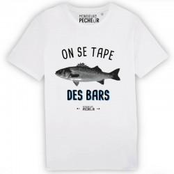 T-Shirt On Se Tape Des Bars Monsieur Pecheur achetez chez pecheur peche com blanc