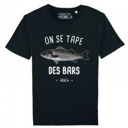 T-Shirt On Se Tape Des Bars Monsieur Pecheur achetez chez pecheur peche com noir