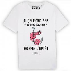 T-Shirt Si ça mort pas Monsieur Pecheur achetez chez pecheur peche com blanc