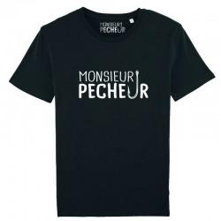 T-Shirt Monsieur Pêcheur achetez chez pecheur peche com noir