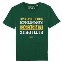 T-Shirt Remonte Moi Sur Le Bateau Monsieur Pêcheur achetez chez pecheur-peche com vert