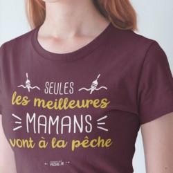 T-Shirt Femme Les vraies Mamans Vont à la pêche Mr Pecheur acheter chez pecheur peche com bordeaux