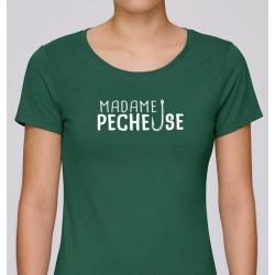T-Shirt Femme Madame Pêcheuse Mr Pecheur acheter chez pecheur peche com vert