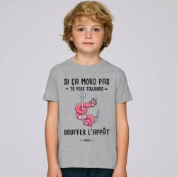 Shirt Si ça Mord pas  Mr Pêcheur acheter chez pecheur peche com gris enfant pecheur de poisson