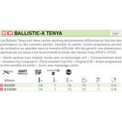Canne Daiwa Ballistic-X Tenya 2.40 M 15-80 G BLX242HAF chez pecheur peche com catalogue Daiwa
