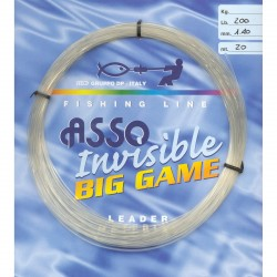 peche big game fluorocarbone invisible 20 m asso pecheur mer