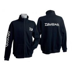 Promo Sweat Zippé Noir Daiwa pour pêcheur acheter chez pecheur-peche.com