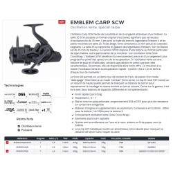 Moulinet Daiwa Emblem Carp 35 SCW QD 45 SCW QD catalogue Daiwa 2020 carpiste