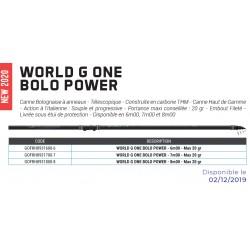 World G one bolo power 20 g max canne bolo power garbolino nouveauté 2020 garbolino