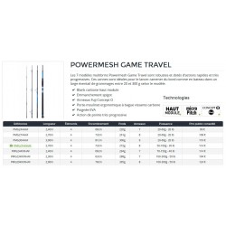 Canne voyage travel Daiwa Powermesh 4 brins faible encombrement pecheur-peche com