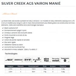 Silver Creek AGS canne vairon manié Daiwa nouveauté catalogue Daiwa