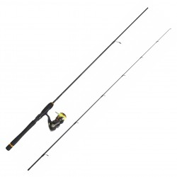 Pack Spinning Crossfire 1.98 M 3-10 G Moulinet Crossfire 2000 BG Tresse J-Braid Daiwa PACKCF01