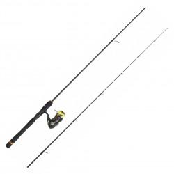 Pack Spinning Crossfire 1.98 M 3-10 G Moulinet Crossfire 2000 BG Tresse J-Braid Daiwa PACKCF01
