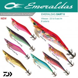 Turlutte Emeraldas Dart II # 3 10 Cm 13.5 G Turlutte Daiwa nouveauté 2020